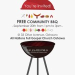 Community Free BBQ – 33 Olive Ave, Oshawa, ON.  See details below