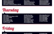 hashtags for everyday of the week